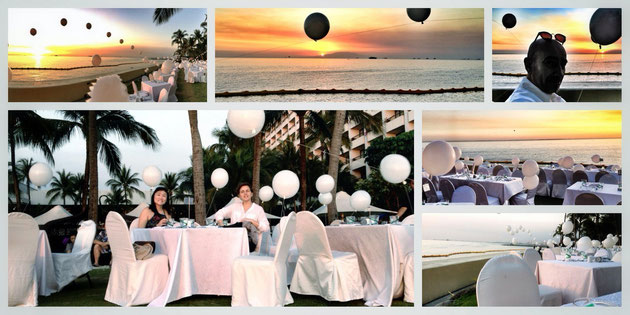 Sunset, Sofitel, Christina, Alexandra und Christian