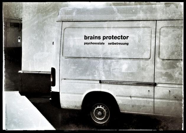 Firmenwagen eines Filmtechnikers