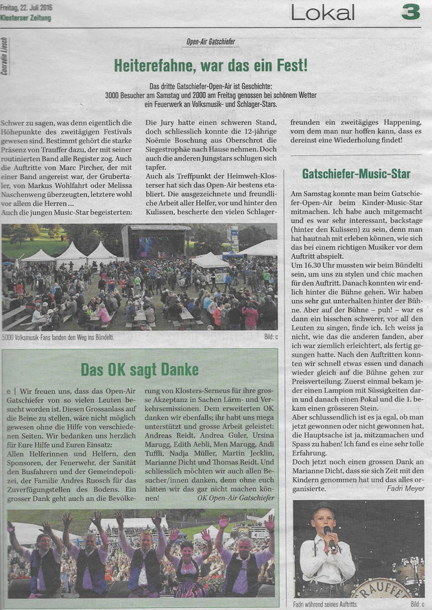 Klosterser Zeitung 22.07.2016