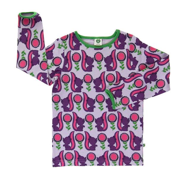 Smafolk Longsleeve Shirt Waschbären Lila