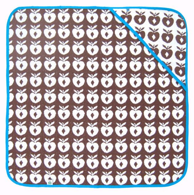 Smafolk Baby Handtuch mit Kapuze Braun Blau