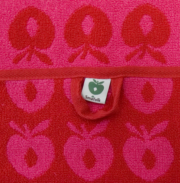 Smafolk Handtuch Äpfel Rosarot Large