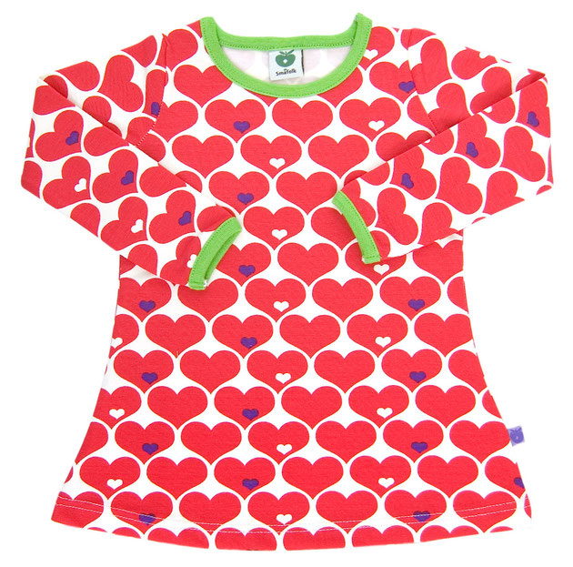 Smafolk Baby Kleid Herzen Rot Weiss