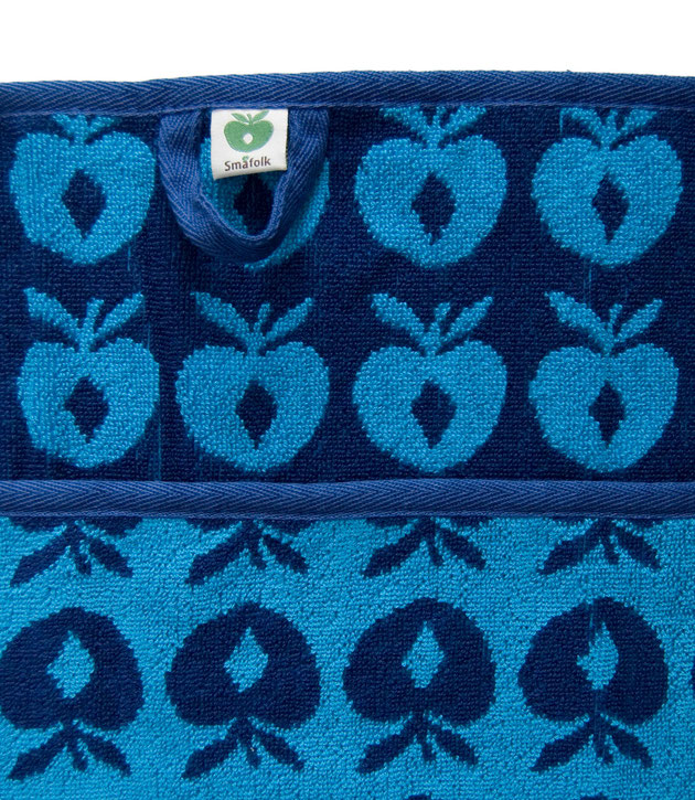 Smafolk Handtuch Äpfel Blau Large