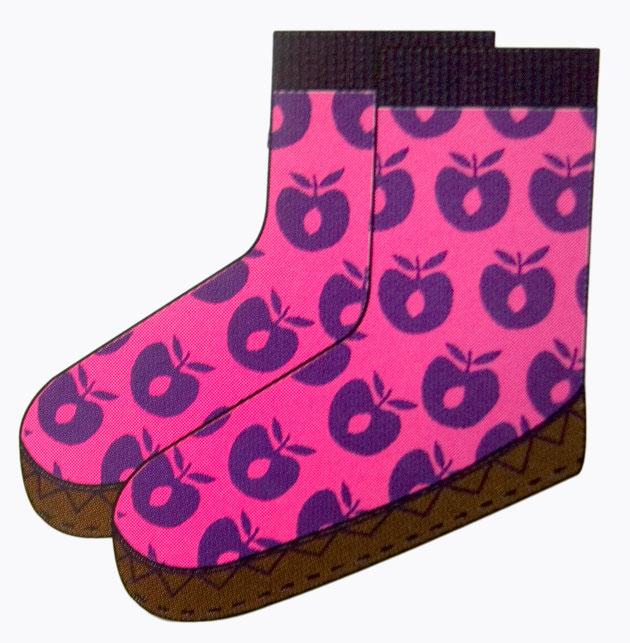 Smafolk Hausschuhe Mokassins Apfel Pink