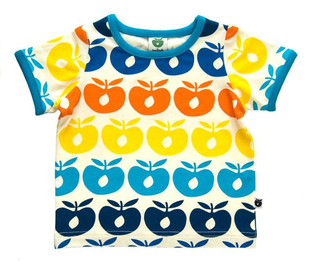 Smafolk Baby T-Shirt Multi Äpfel Blau