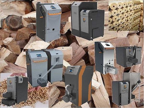 Biomassekessel,Holzkessel,Holzvergaserkessel, Bormmer E Turbo, Saugzuggebläsekessel Blaze Harmony, Automatische Pelletkessel BH