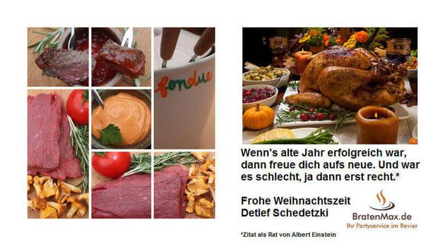 Detlef Schedetzki (BratenMax-Partyservice) wünscht eine frohe Weihnachtszeit und ein erfolgreiches neues Jahr