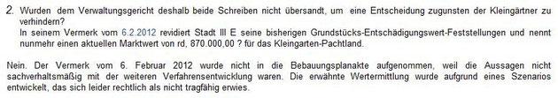 Antwort auf Einwohnerfrage 3 der BVV vom 16.01.2014