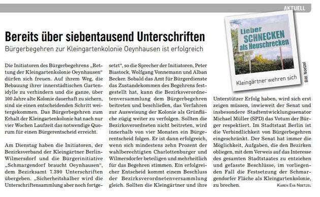Mit Dank an das Berliner Abendblatt, die BVZ Anzeigenzeitungen GmbH und Karen Nötzel