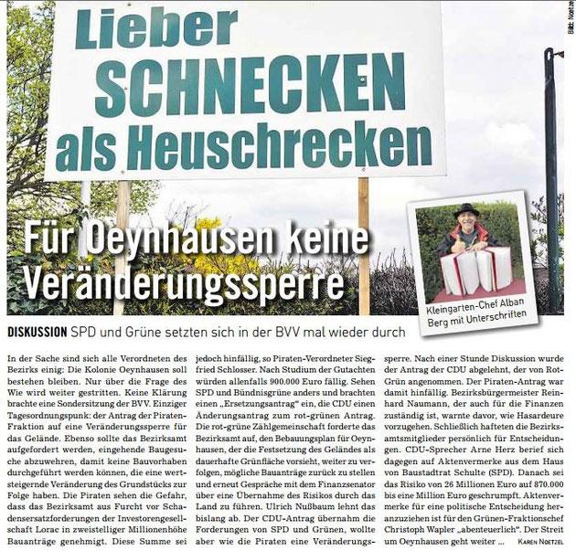 Mit Dank an BVZ Anzeigenzeitungen GmbH und die Autorin Karen Eva Noetzel