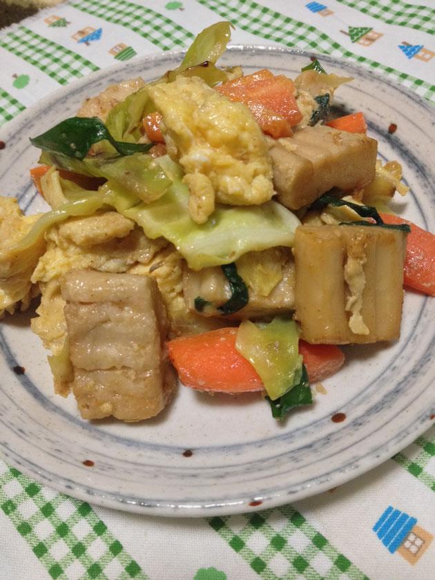 かくふと野菜の塩炒め