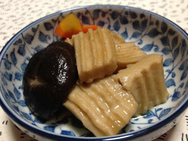かくふとシイタケの煮物
