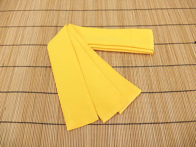 厚地ポリエステル帯 黄色