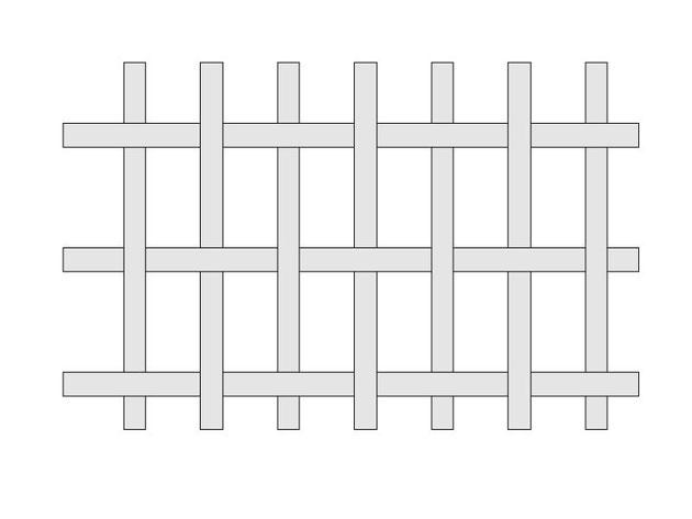 平織りの図