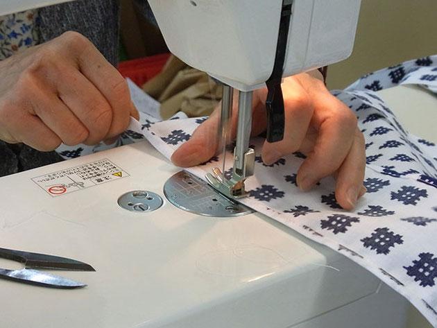 浴衣の縫製