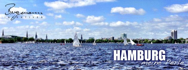 Hamburg Alster segeln