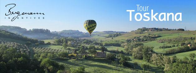 Toskana - Ballonfahrt am Morgen!