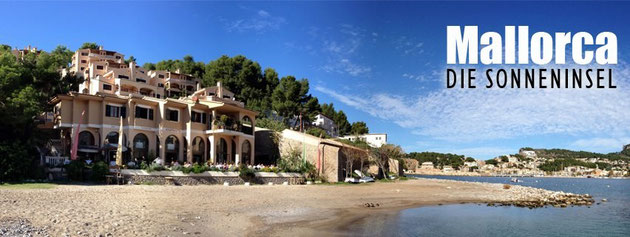 The sunny island in the mediteranean sea