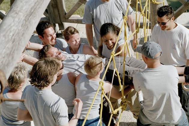 Teambuilding - Spinnennetz