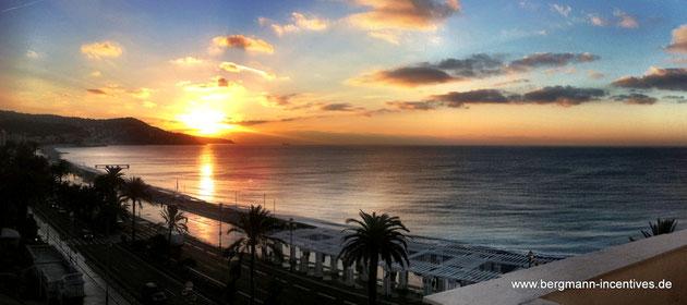 Sonnenaufgang über Nizza