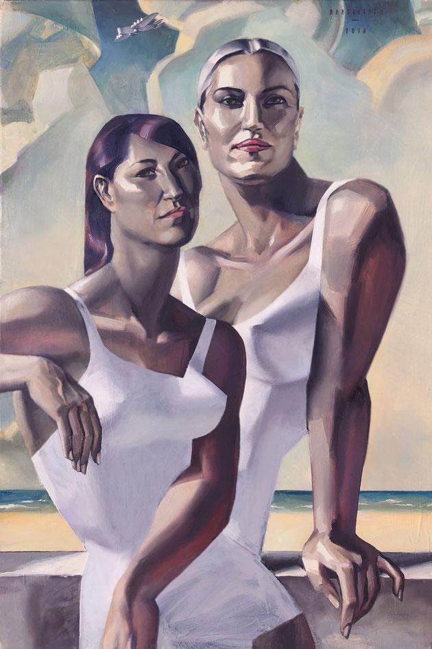 The Sisters -  120 cm x 80 cm