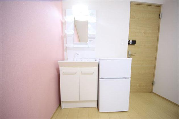 개인실 세면대과 냉장고