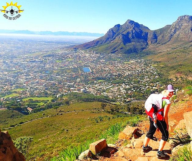Kapstadt: Wandern auf dem Lion´s Head mit Baby.