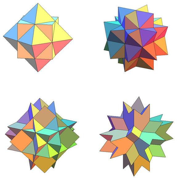 Как сделать третью форму звездчатого икосаэдра фото 182-811