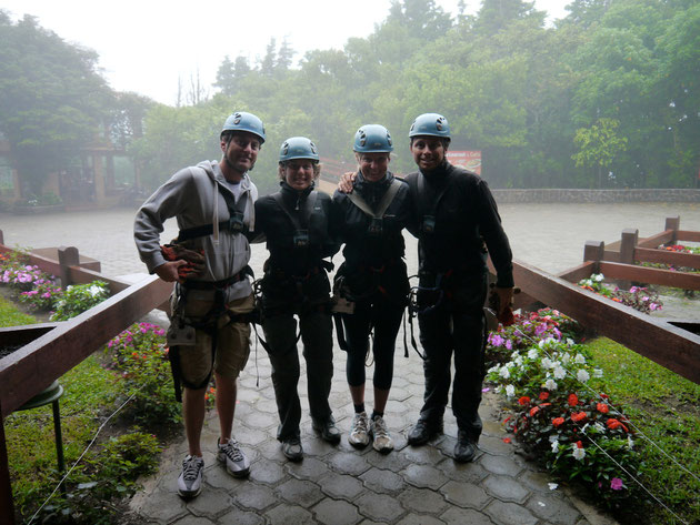 "The gang about to embark on the ""zip line"" through the cloud forest - Monteverde, Costa Rica (click to zoom)"