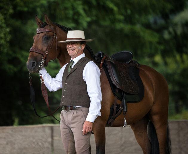 Rolf Janzen und Pferd