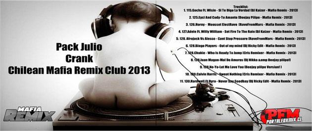 Pack Julio Crank Chilean Mafia Remix Club 2013
