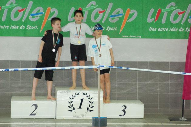 Pierre Portal : médaille d'or en finale 100m 4 N aux interrégions à BLOIS.
