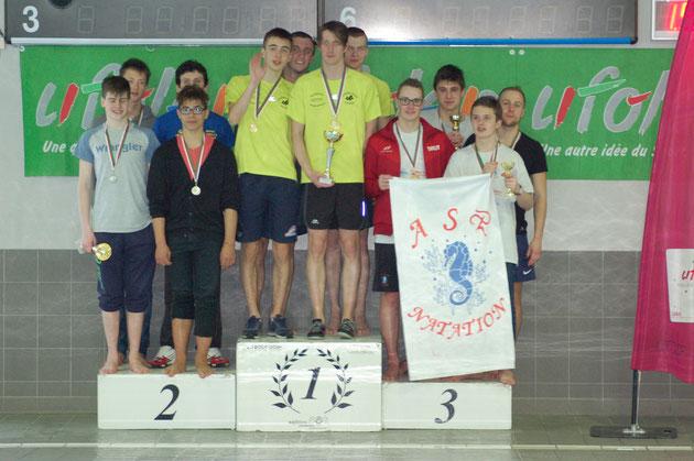 Médaille de bronze pour le relais toute catégorie 4x100m 4N (Tanguy Crapeau, pierre-Louis Ottavioli, Victor Dupérat, Antoie Brits)