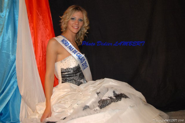 Angéline Lagache - Elue Miss Nord - Pas de Calais 2010 au Pasino de Saint Amand les eaux le 25 septembre 2010