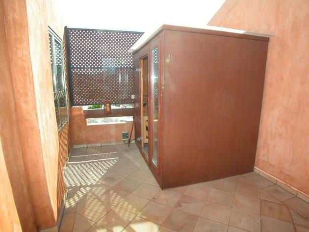Sauna auf der Dachterrasse