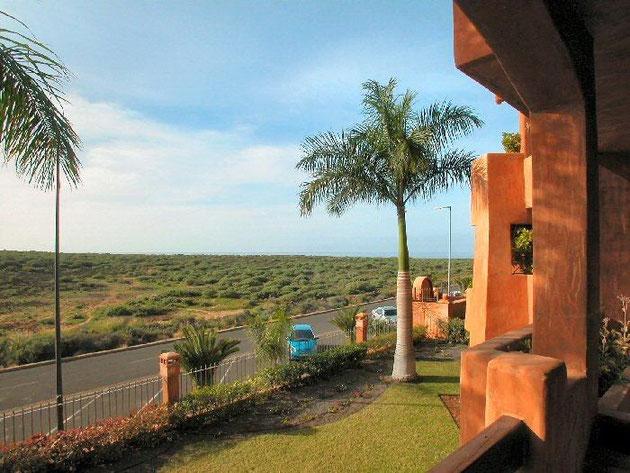 Blick von dem Balkon in Naturschutzgebiet.