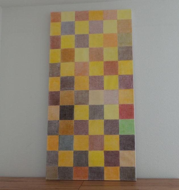 Gemälde mit Titel Augenreise in Braun und Gelb - Bodenständigkeit und Geist
