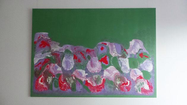 Gemälde Nelken Künstleracryl auf Leinwand