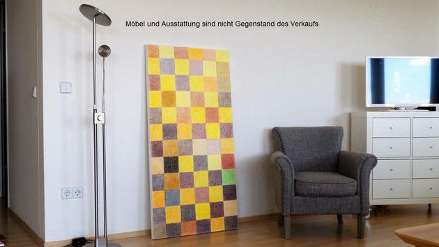 Dekoratives Wandbild im Stil von Konstruktivimus und Suprematismus für die individuelle Wohnraumdekoration