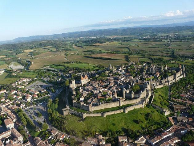 Vue aérienne de la Cité de Carcasonne