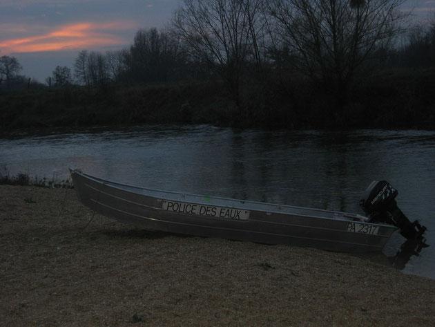 Soleil couchant sur la Seine à Savières