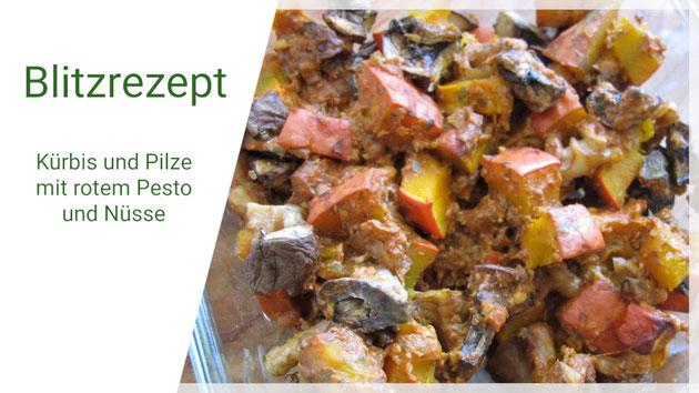 Beatrice Winkel - Kürbis mit Pilzen und rotem Pesto