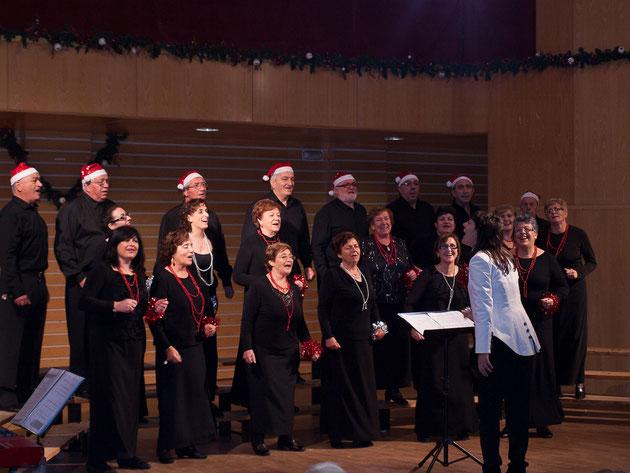 Se nota que era el coro más alegre que pasó este año por el Festival de Panxoliñas que se celebra en Redondela.