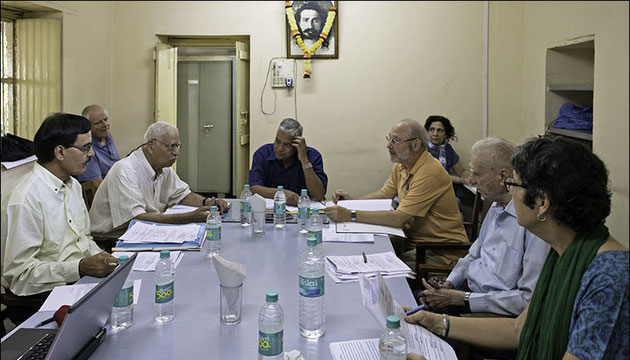 The Avatar Meher Baba India Trust board  in session with Shridhar as its Chairman.