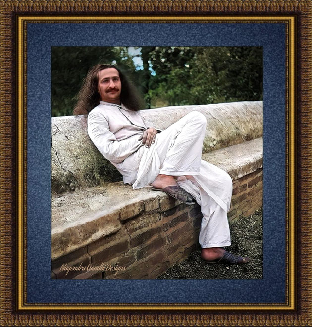 37. Baba in India. Colourization by Nagendra Gandhi