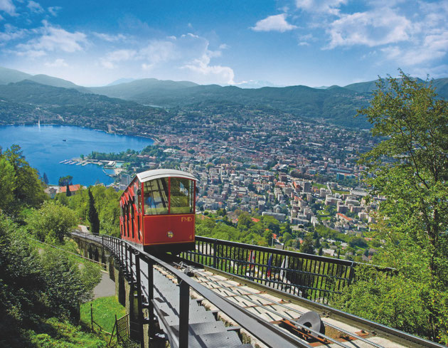 Mt. Brè funicular transport