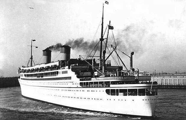 SS Monterey leaving port