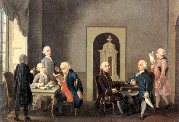 """A. Perego, """"L'Accademia dei Pugni"""" (1766)"""