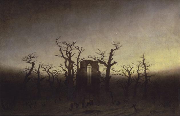 """Caspar David Friedrich, """"Abbazia nel querceto"""" (1810)"""